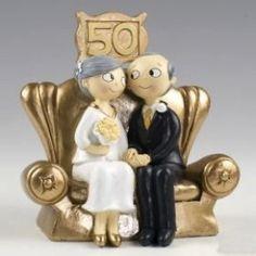 Cake topper 50mo oro