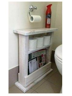 Using a wood pallet to create small bathroom storage ideas is a clever way to add character and rustic beauty to your bathroom. Pallet Bathroom, Bathroom Rack, Bathroom Storage, Bathroom Ideas, Office Bathroom, Gold Bathroom, Downstairs Bathroom, Organized Bathroom, Funny Bathroom