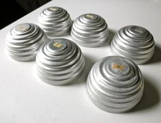 SOLD // Vintage Aluminum Bee Hive Molds // Set of 6 // Jello by JackpotJen, $12.00
