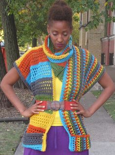 Multi -Colored mock Sweater - Special Order - Orange, Green, Turquoise, Yellow & Gray by DoubleStitchTwins on Etsy https://www.etsy.com/listing/111389655/multi-colored-mock-sweater-special-order