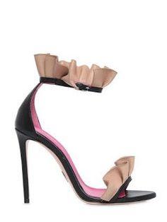 Oscar Tiye - Antoinette Ruffle Leather Sandal