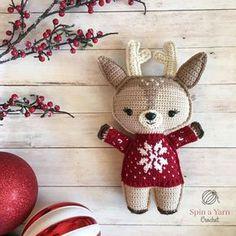 Holiday Deer Free Crochet Pattern (Part 1!)