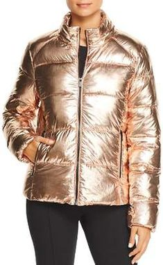 34e3c4963ae6 Andrew Marc Metallic Puffer Jacket Andrew Marc, Puffer Jackets, Winter  Jackets, Jackets Online