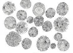 Thumbprint Style Zentangles