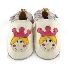 Snuggle Feet – Suaves Zapatos De Cuero Del Bebé Corona de reina (24-36 meses)