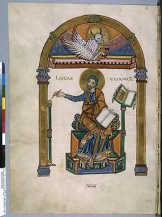 Saint Luke, Salzburg (?), 831-836, Paris, Latin BnF 8849 folio 138v