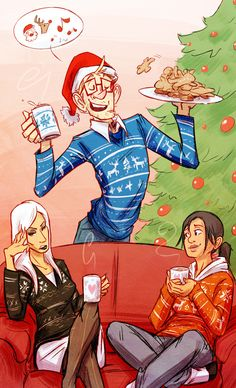 unbadger:WOO PORTAL SECRET SANTA- With Chell, Wheatley, GlaDOS and ugly Christmas sweaters