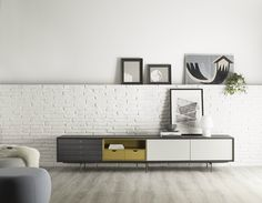 Lacquered wooden sideboard AURA C8 by TREKU
