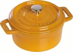 Staub Round Cocotte Mustard 20 cm  78 inch 20 years warrenty *** Read more  at the image link. (This is an Amazon affiliate link)