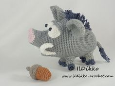 Amigurumi Crochet Pattern Wilbur the Wild Boar English