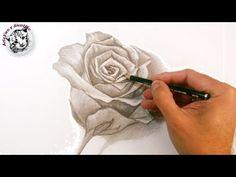 Cómo Dibujar Una Rosa a Lápiz Paso a Paso: Técnicas de Dibujo a Lápiz - YouTube