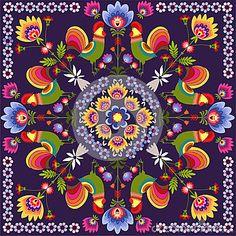 Polish folk - traditional design with floral