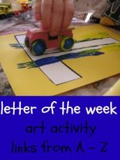 letter of the week - activities/crafts for each letter