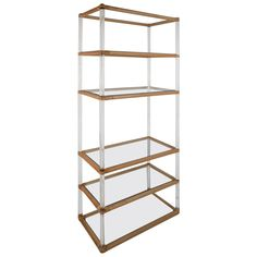 Unique Mid-Century Modern Lucite And Bamboo Display Etagere   From a unique collection of antique and modern shelves at https://www.1stdibs.com/furniture/storage-case-pieces/shelves/