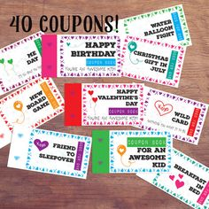 11 best birthday coupons images on pinterest birthday coupons