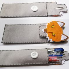 Tutorial - how to make a cute pencil case from felt