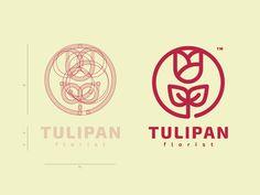 Tulipan logo CONSTRUCTION GRID designed by Mateusz Urbańczyk. Design Logo, Grid Design, Graphic Design Branding, Graphic Design Art, Graphic Design Inspiration, Book Design, Typography Logo, Art Logo, Logo Branding