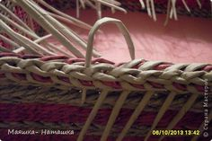 Поделка изделие Плетение Короб-поднос + МК загибки Бумага газетная Трубочки бумажные фото 25