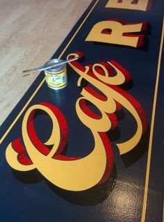 cafe revival traditional signwriting