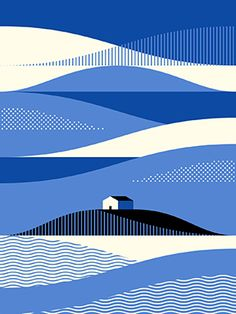 Idée et inspiration look d'été tendance 2017 Image Description visualgraphc: Beach House by Paul Tebbott – best possible light Illustration Design Graphique, Beach Illustration, Art Graphique, Graphic Illustration, Graphic Art, House Illustration, Simple Illustration, Poster Design, Design Art