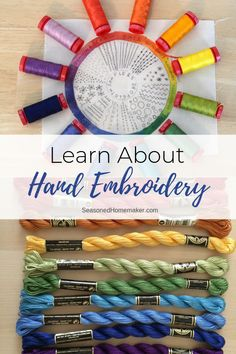Learn About Hand Embroidery Slow Sewing is all about taking the time to hand sew projects. Whether it's hand embroidery, appliqué, or hand quilting. You can relax with a needle and thread. Hand Sewing Projects, Sewing Projects For Beginners, Sewing Hacks, Sewing Tutorials, Sewing Tips, Sewing Basics, Sewing Patterns Free, Free Sewing, Design Patterns