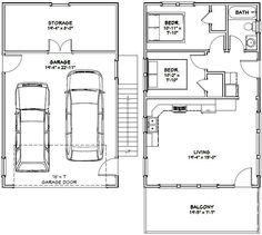 20x32 Tiny House -- PDF Floor Plan -- 808 sq ft -- Model 6I 2