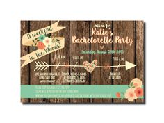 Bachelorette Weekend Itinerary Invitation, Rustic Wedding Invitation, Camping Invitation, Bachelorette Weekend Invitation, Mint Coral Invite by VintageLeeCrafted on Etsy https://www.etsy.com/listing/240056737/bachelorette-weekend-itinerary