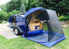 TailVeil tent on a teardrop trailer www.tailveil.com