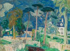 William George Gillies (Scottish, The Farm Place, Summer, Oil on canvas, 46 x 61 cm Glasgow Museum, Digital Museum, Landscape Artwork, Collaborative Art, Art Uk, Conceptual Art, Summer Art, Beautiful Paintings, New Art