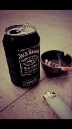 Jack Daniels and cigarretes