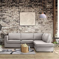 Decoration, Couch, Places, Modern, Furniture, Home Decor, Rustic Chic, Grey Fabric, Woodwork