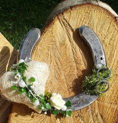 Hufeisen Ringkissen für Hochzeit Eheringe Liebe Glücksbringer Trachtenhochzeit