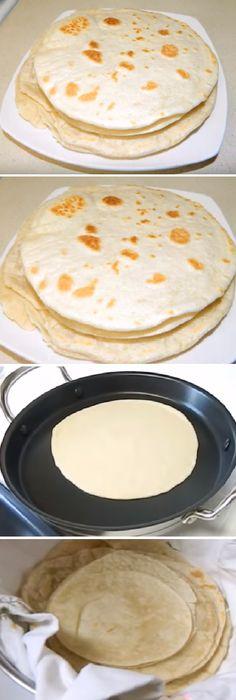 "Flour Tortillas For Business ""von Mexican Drinks, Mexican Dishes, Mexican Food Recipes, Mexican Bread, Happy Cook, Good Food, Yummy Food, Flour Tortillas, Finger Foods"
