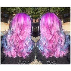 ✨ Pink & Blue Hair ✨ Using Pravana Vivids Locked In  #HairByCheree #cottoncandy #hair #haircolor #pravana #vividslockedin #hairporn #hairinspiration
