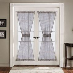 French Door Panels Lush Decor Antique Gray 72 inch Set of 2 Window Curtains Curtains Living Room, Rod Pocket Curtain Panels, Door Window Treatments, Drapes Curtains, Curtains, French Door Curtains, Panel Doors, Lush Decor, Door Curtains