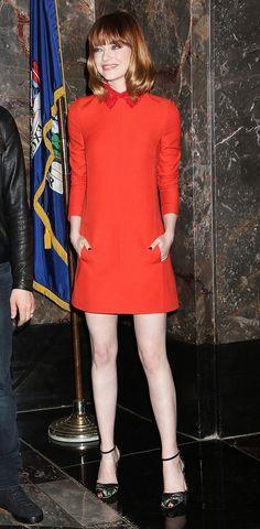 Emma Stone red dress