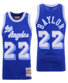Mitchell  amp  Ness Men s Elgin Baylor Los Angeles Lakers Hardwood Classic  Swingman Jersey - Blue 1aeee1ed8