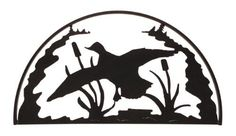 Duck Hoop Lodge Themed Decorative Duck Silhouette
