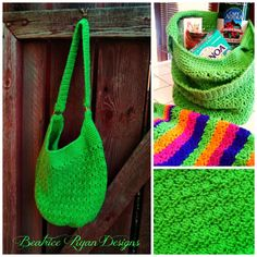 "Amazing Grace Tote, free pattern by Elena Hunt. Circumference about 30"", height about 15""; worked in the round, 360-425 yds WW yarn, hook sizes H & K.   . . . .   ღTrish W ~ http://www.pinterest.com/trishw/  . . . .   #crochet #bag #purse"