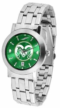 Colorado State Rams Men's Modern Stainless Steel Watch by SunTime. $80.95. AnoChrome Dial Option. Officially Licensed Colorado State Rams Men's Watch Stainless Steel. Men. Links Make Watch Adjustable. Stainless Steel Band. Colorado State Rams Men's Modern Stainless Steel Watch. This Rams watch has a modern sleek design for the modern man who wants to show their team spirit! The dial is presented in a sleek, stainless steel case and bracelet that rests fashionably yet comfortably...