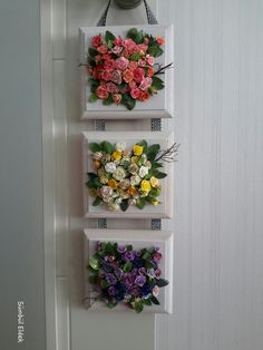 On A Budget DIY Projects Pallet Garden Design Ideas - Fabric crafts Paper Flowers Diy, Clay Flowers, Flower Crafts, Fabric Flowers, Plant Wall, Plant Decor, Garden Diy On A Budget, Garden Ideas, Small Garden Design