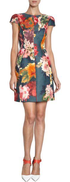 J. Mendel Floral Dress