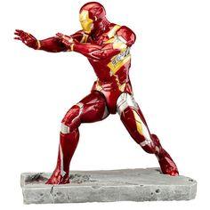 NEW Civil War: Iron Man ArtFX Statue Mark 46 Captain America Marvel Figure #Kotobukiya