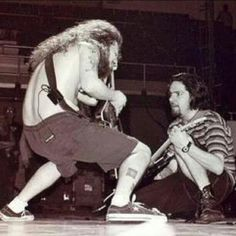 Dimebag Darrell and Tommy Victor