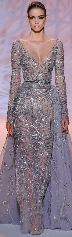 I'd like the neckline a little higher; otherwise, stunning! Fall 2014 Couture Zuhair Murad