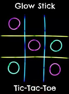 Glow in the dark noughts and crosses