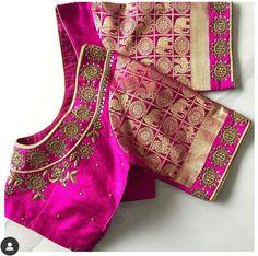 Blouse Patterns, Blouse Designs, Hand Work Blouse Design, Maggam Works, Blouses, Unique, Blouse, Woman Shirt, Hoodie