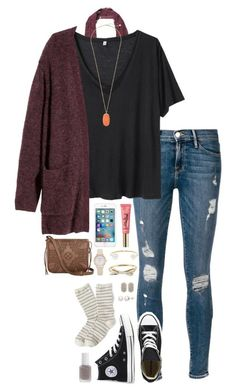 #fall #outfit / Burgundy Cardigan + Sneakers