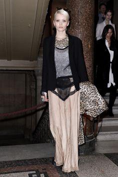 Abbey Lee Kershaw - Rag & Bone Lafone Skirt