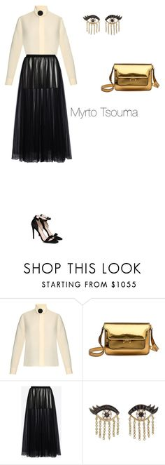 """""""New Year's Eve"""" by myrtots ❤ liked on Polyvore featuring Balenciaga, Marni, Valentino, Sydney Evan and STELLA McCARTNEY"""